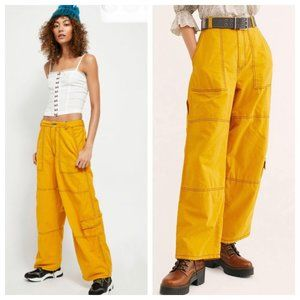 Free People Calendula Wide Leg Cargo Pants NWT 4